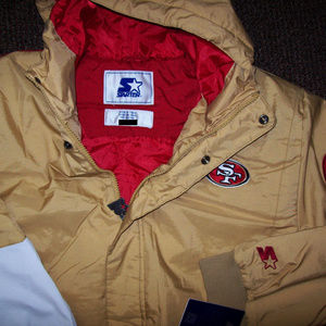 SAN FRANCISCO 49ERS Starter KNOCKOUT Jacket 3X-6X